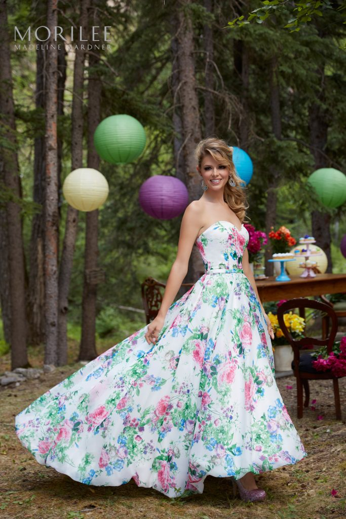 Mori Lee Floral Prom dresses